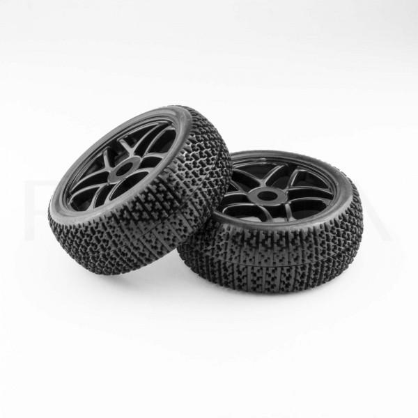 Rennstrecken-Räder 115mm x 45mm, 17mm Mitnehmer (schwarz)